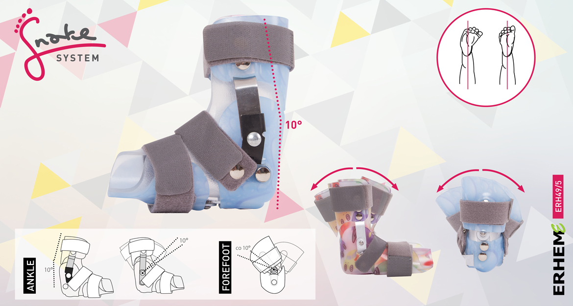 ERH 49/5 The brace immobilizing and correcting foot and talocrural joint, Snake system series