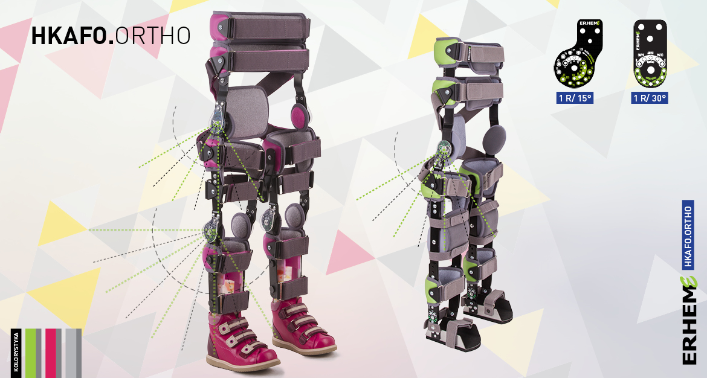 HKAFO.ORTHO Orteza obejmująca obręcz biodrową, uda, golenie i stopy