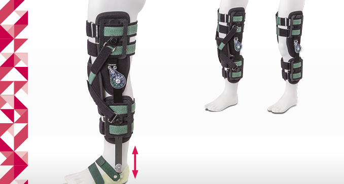 ERH 43/2 The open modular apparatus with sandal for lower limb, KAFO Ortho series