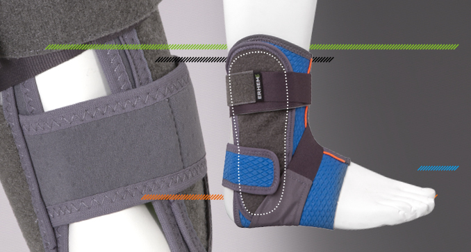 ERH 49/1 The brace immobilizing foot and talocrural joint – sport, REHAproactive series