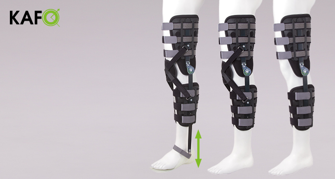ERH 43/2 The open modular apparatus with sandal for lower limb KAFO, REHAortho series