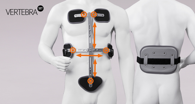ERH 51 3-point frame corset by Bahler-Voigt TLSO, REHAortho / Vertebra set series