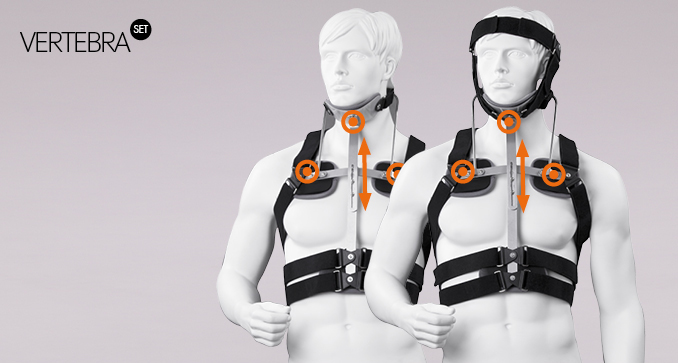 ERH 65 The frame cervico-thoracic spine corset CTO, REHAortho / Vertebra set series