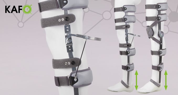 ERH 67/2 Splint-strap apparatus with sandal for the lower limb KAFO, REHAneuro series