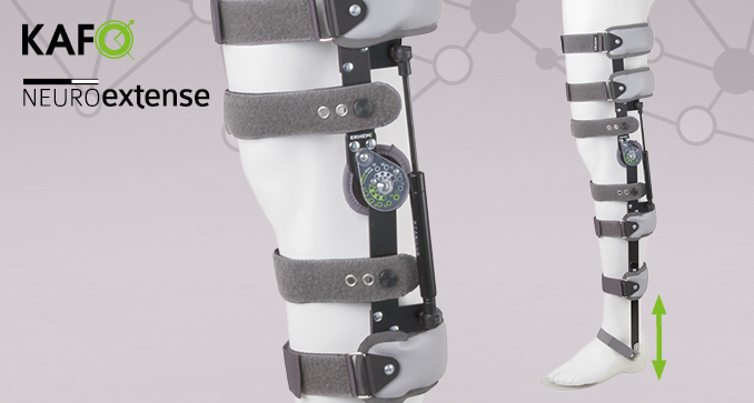 ERH 67/1 Splint-strap lower limb apparatus with sandal – KAFO, Neuroextense series