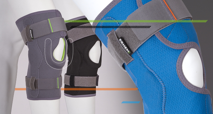 ERH 35/K/S Knee joint brace short Sport, REHAproactive series