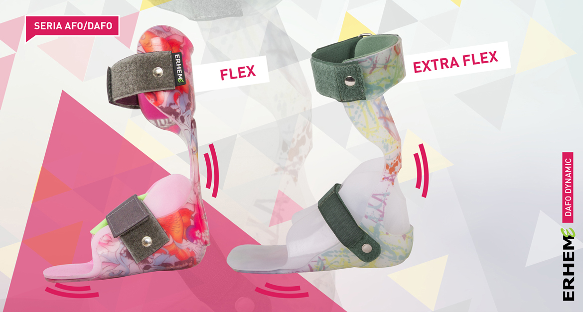 DAFO Active 3, Short orthosis correcting axial disorders in the frontal plane, AFO/DAFO series