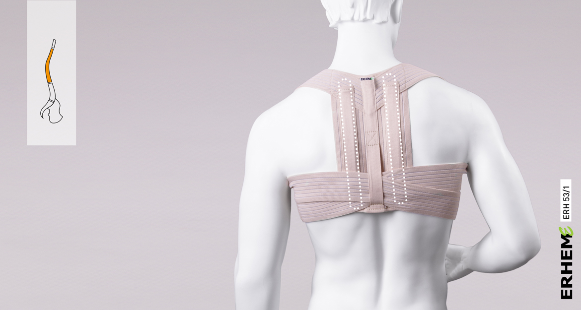 ERH 53/1 The figure-of-8 correcting posture shoulder brace with splint, REHAortho series