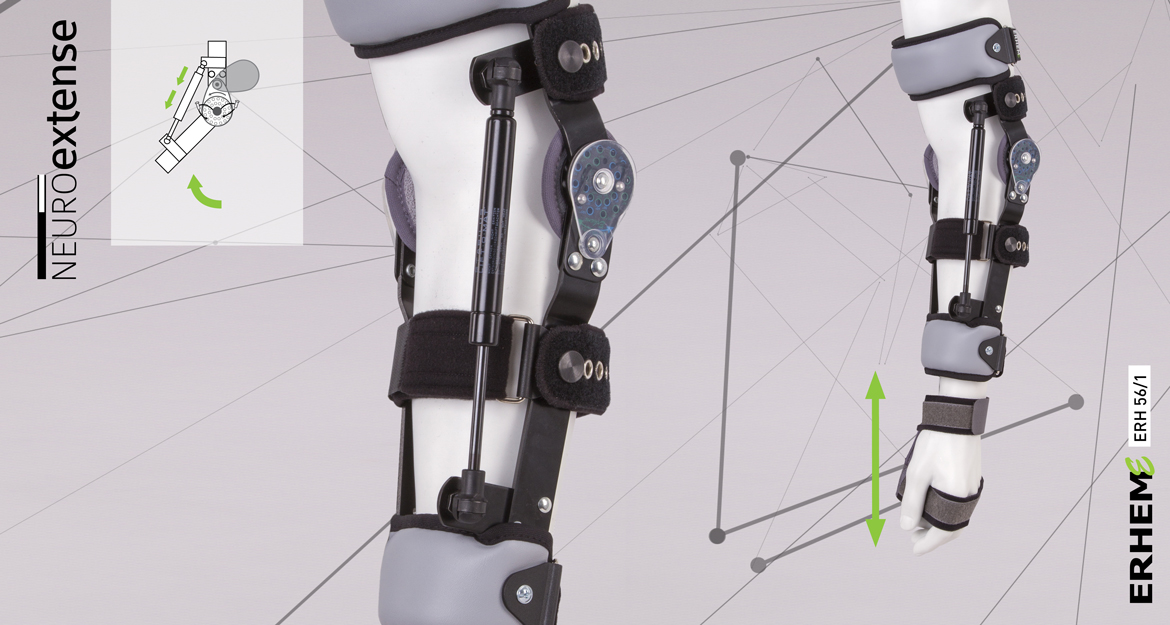ERH 56/1 Arm and forearm apparatus providing the elbow joint redressment, REHAneuro / neuroextense series