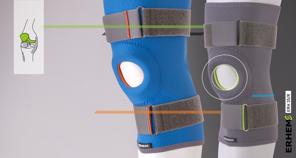 ERH 35/M Knee stabilizing brace, REHAproactive series